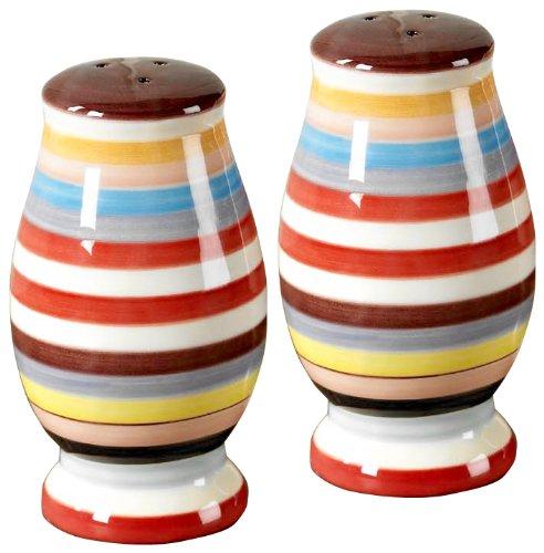 Tabletop Lifestyles Salt and Pepper Shakers, Sedona Stripe