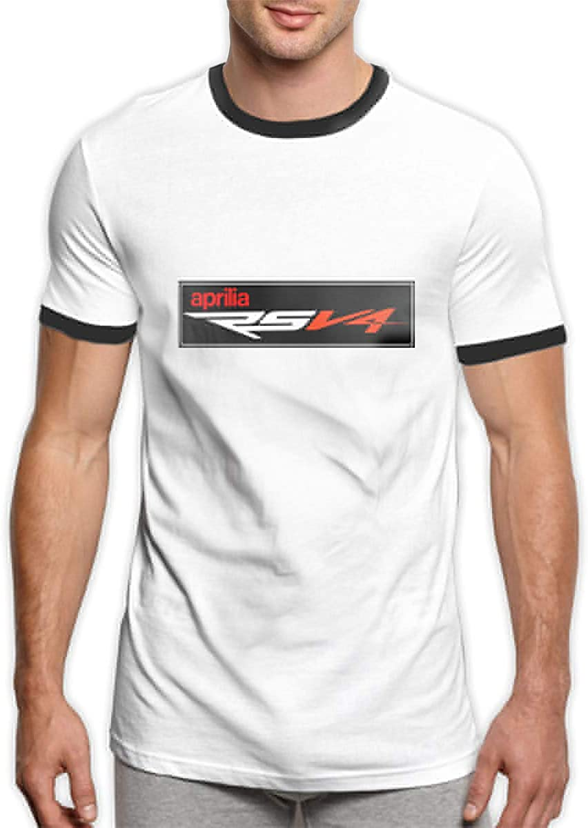 TIANXIN Personalized Aprilia/_Motorcycle RSV4 Logo T Shirts O-Neck 100/% Preshrunk Cotton for Boys Black