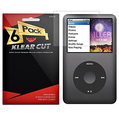 klear-cut-6-pack-screen-protector-for-apple-ipod-classic-160gb-lifetime-replacement-warranty-anti-bu