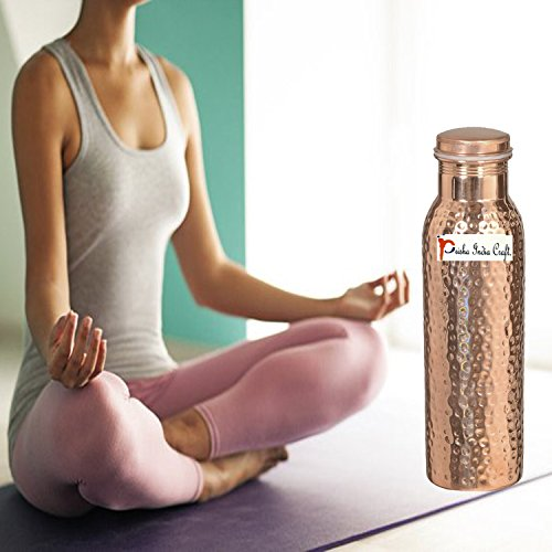900ml / 30oz – Set of 12 - Prisha India Craft Pure Copper Water Bottle Ayurveda Health Benefits - Best Quality Water Bottles Joint Free, Handmade Christmas Gift by Prisha India Craft (Image #3)'