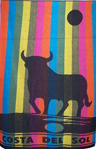 UNIVERSFUN-Toalla de playa, diseño de Toro, diseño de bandera de España El