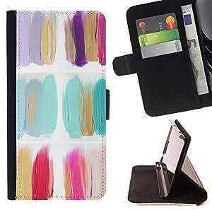 Momo Phone Case / Flip Funda de Cuero Case Cover - Pintura Flores polaco minimalista Petróleo - LG G4c Curve H522Y (G4 MINI), NOT FOR LG G4