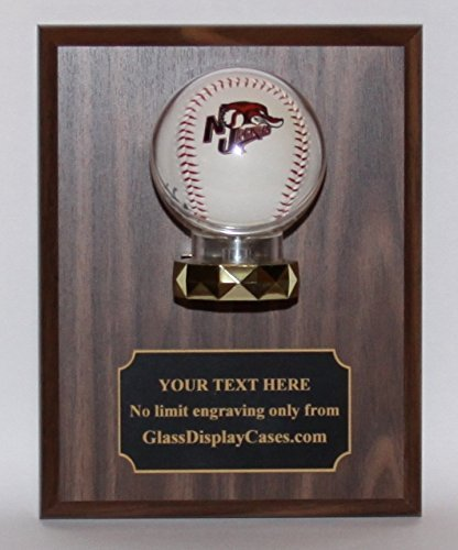 Baseball Wall Mount Display Case Wood Plaque