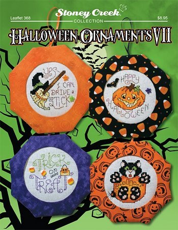 Halloween Ornaments VII (Leaflet 368) Cross Stitch Chart and Free Embellishment]()