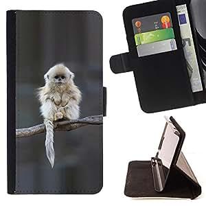 BullDog Case - FOR/Apple Iphone 5C / - / Japanese Snow Monkey Ape Cute /- Monedero de cuero de la PU Llevar cubierta de la caja con el ID Credit Card Slots Flip funda de cuer