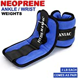 #6: FITNESS MANIAC Adjustable Straps Neoprene Exercise Ankle Weight Fitness Leg Wrist Strap 6 lbs Weight Lifting Gym Workout Exercise Training Weights