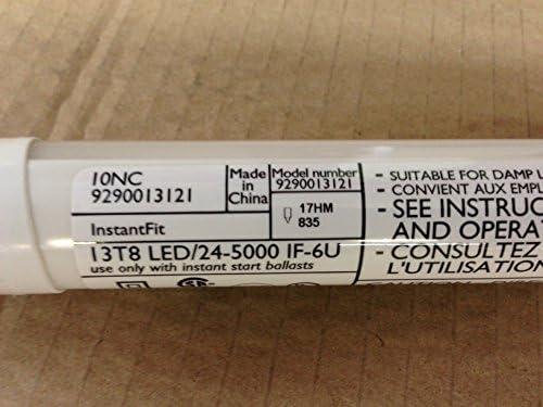 Medium Bi-Pin G13 Base 1-Pack 454249 Philips LED InstantFit 2-Foot T8 U-Bent Tube Light Bulb 2100-Lumen 4000-Kelvin 32-Watt Equivalent 16.5-Watt Cool White