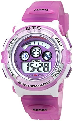 Boys女の子防水光ウォッチファッションスポーツデジタルwatch-q