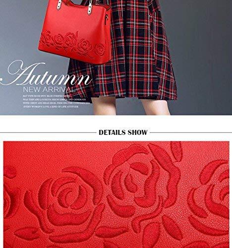 Zhao Liang Embroidery Flower Women Handbag Black Ladies Designer Shoulder Bag Leather Crossbody Bags