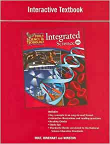 Holt Science & Technology: Integrated Science: Interactive ...