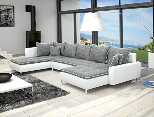 divano angolare a u dante 6 posti grigio e bianco shop