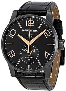 Montblanc 106066 - Reloj de pulsera hombre, piel, color negro