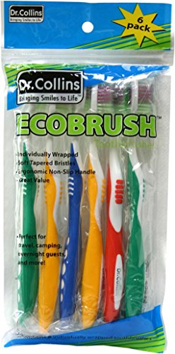 UPC 896660002764, Dr. Collins Toothbrushes, Ecobrush, 6-Count (Pack of 12)