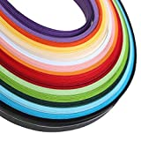KINGSO 160 Stripes Quilling Paper 5mmx530mm Mixed 16-Color DIY Craft Origami Paper