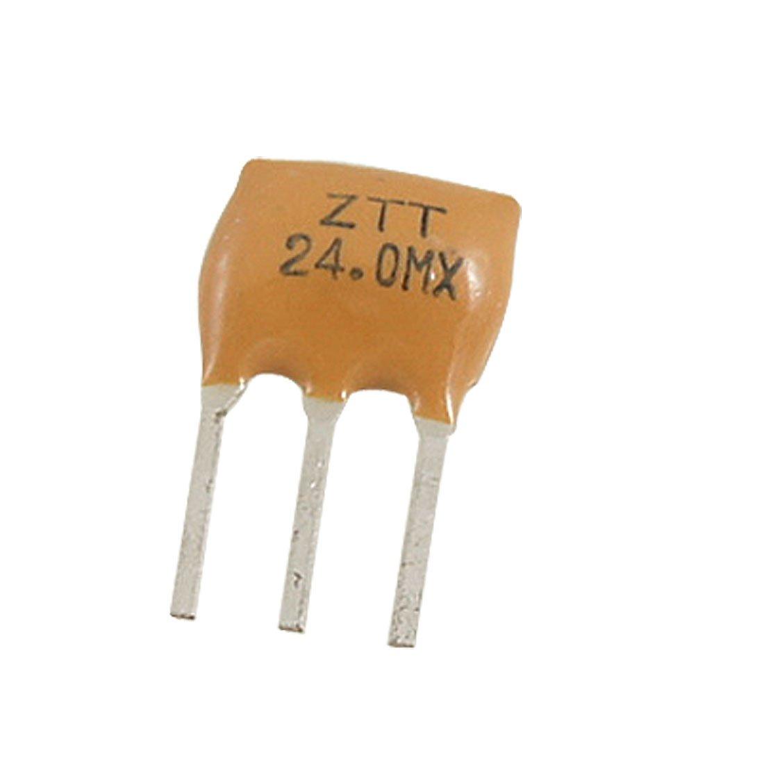 sourcing map 5 Pcs ZTT Series Ceramic Filters Crystal Resonators 3 Pin 24.000MHz