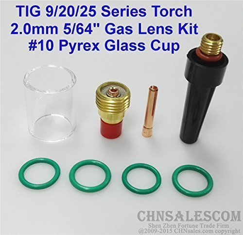 CHNsalescom 8 pcs TIG Welding Torch Gas Lens Pyrex Cup Kit for Tig WP-9/20/25 Series 5/64