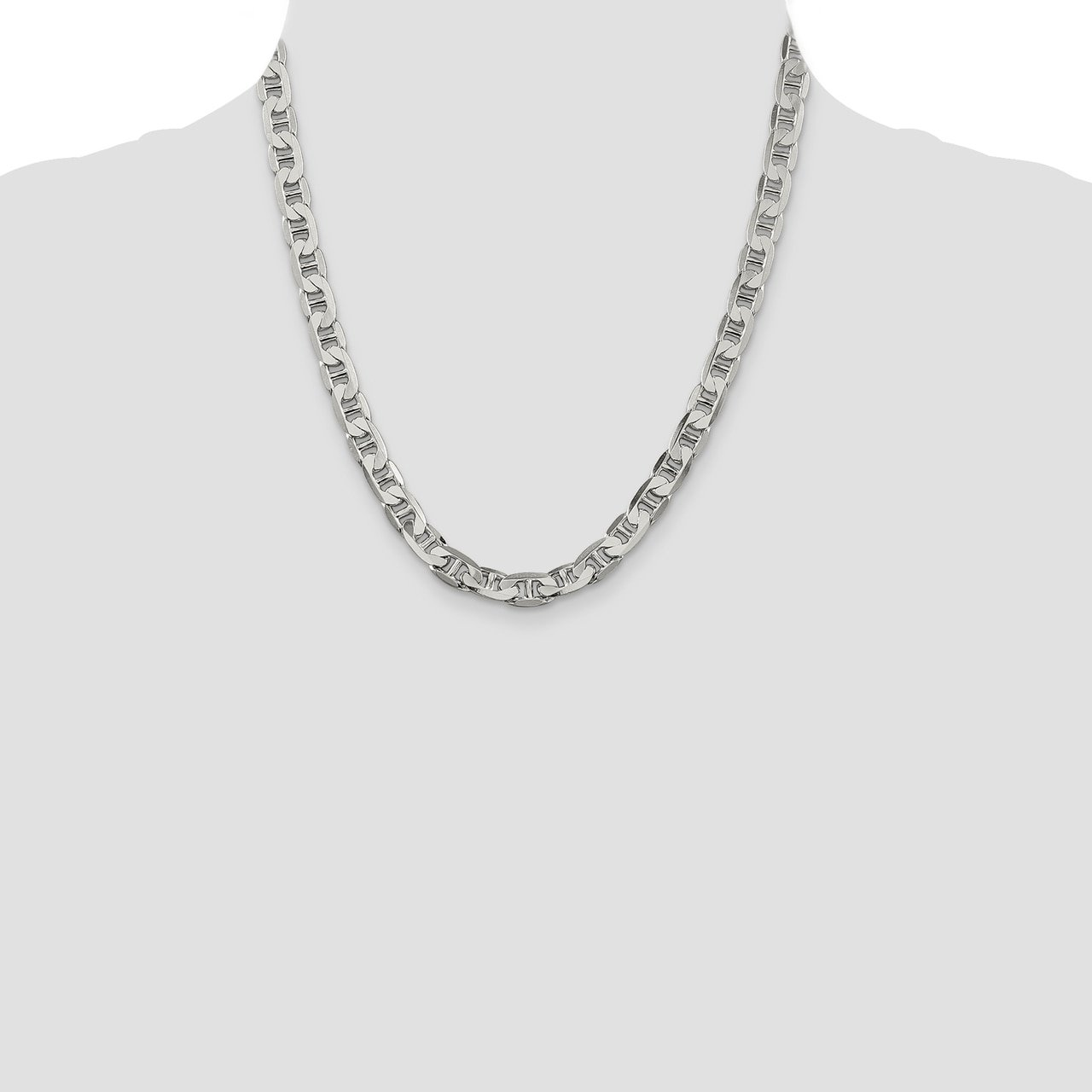 Lex /& Lu Sterling Silver 7mm Anchor Chain Necklace or Bracelet