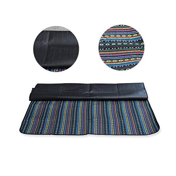 515NbdqfMLL Extsud Outdoor Camping Picknick Matte Feuchtigkeit Pad Ethnische Art Tragbare Picknick Decke Wasserdicht Campingdecke…
