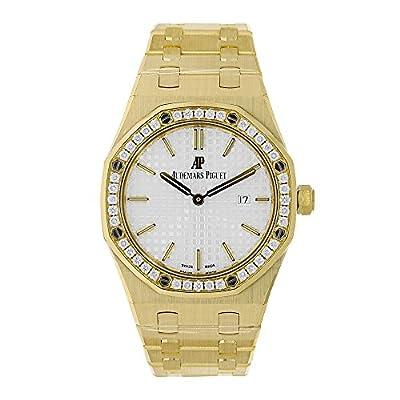 Audemars Piguet Royal Oak 33mm Diamond Bezel Watch White Dial 67651BA.ZZ.1261BA.01 by Audemars Piguet