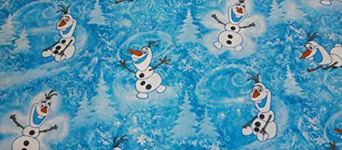 Disney Frozen Dancing Snowman Fabric