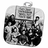 3D Rose Lips That Touch Liquor Poster-Prohibition-Humor-Humour-Funny-Movie-Thomas Edison Pot Holder, 8'' x 8''