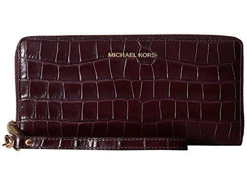 MICHAEL Michael Kors Travel Continental Zip Around Saffiano Leather Wrislet