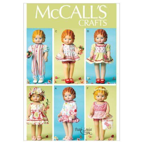 "McCALL'S CRAFTS M6573 ~ 18"" inch Doll Clothes Sewing Pattern: Skirt, Romper, Dress, Bloomers, Jumper, Pinafore, & More!"