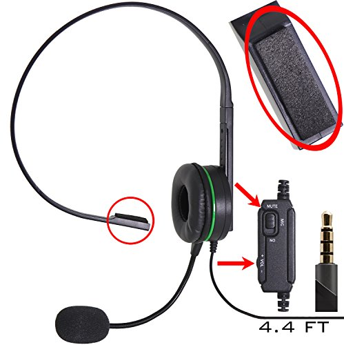 Computer Gaming and Chatting Single Headset Over-Ear with Bo