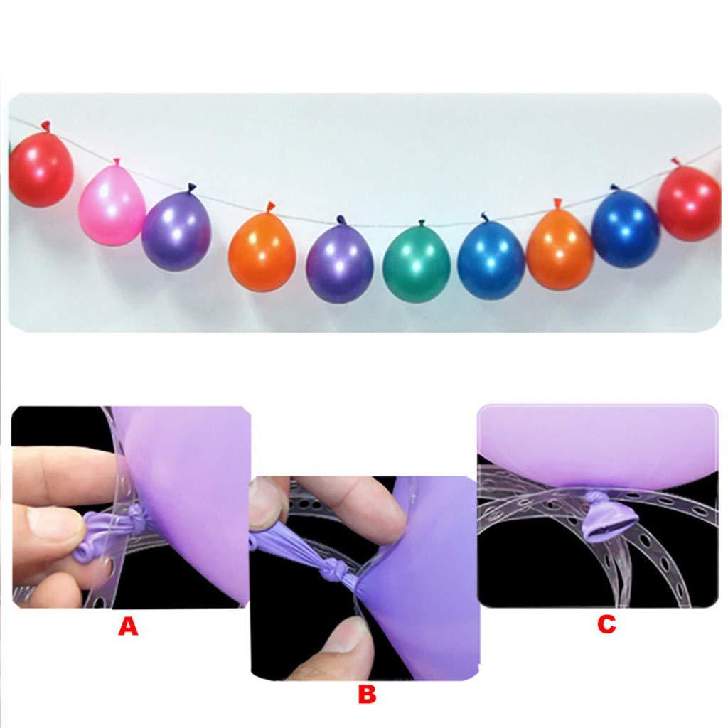 Koolsants 15Meters Balloon Arch Garland Decorating Strip,Wedding Party Helium Balloon Decoration Transparent PVC Rubber Chain Balloon