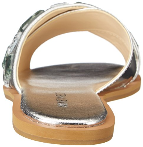 Nine West Women's Nawty Synthetic Sandal Silver/Silver 2PRqy6v