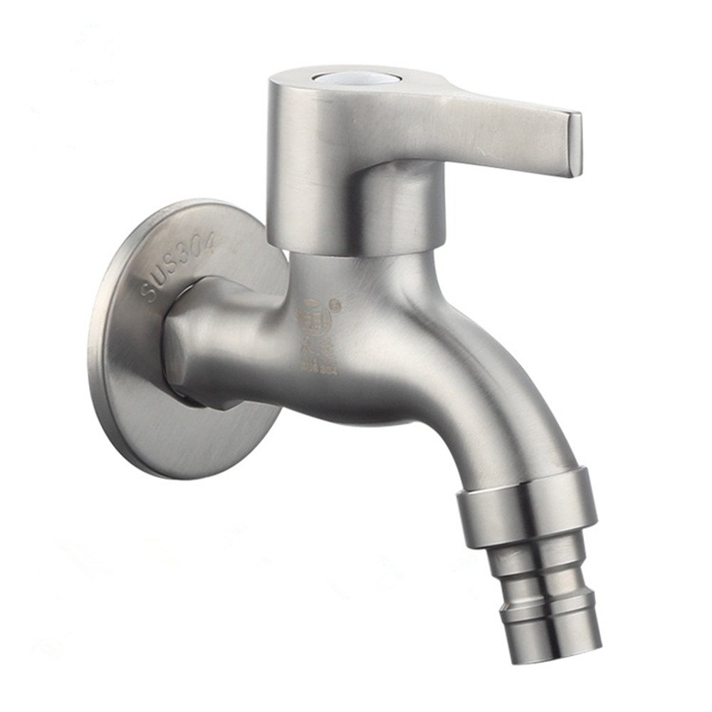 Siderit Stainless Steel Wall Mounted Faucet Cold Water Bathroom Lavatory Sink Bathtub Single Handle Taps Washing Machine Garden Faucet