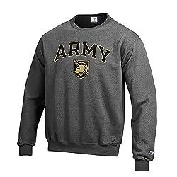 NCAA Army Black Knights Men's Crewneck Charcoal Gray Sweatshirt, Dark Heather, Medium