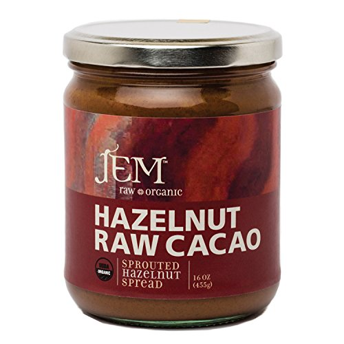 JEM - All Natural, Vegan, Organic Dairy Free Chocolate Hazelnut Nut Butter - Creamy Artisan Spread for Snacks and Sandwiches 16 oz
