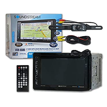 SoundStream 2 DIN Audio System with GPS Navigation & Touchscreen (VRN-65HB)