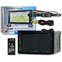 Soundstream VRN-65HB Double DIN 2DIN 6.2 LCD GPS DVD CD receiver with Bluetooth + DCO Water-Proof and Night Vision Back-up Camera