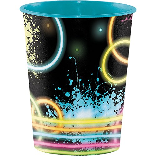 Creative Converting 12-Count Plastic Keepsake Cups, Glow Party