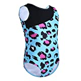 CHICTRY Fashionable Girls Leopard Print Tank Leotard for Gymnastics Dancing or Swimming Sports Blue 10-12