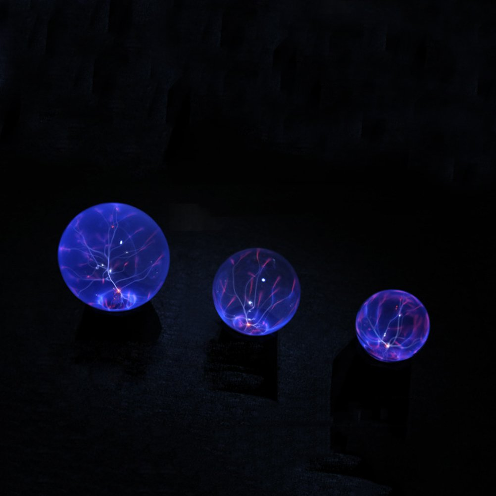 LEDMOMO Ball Lamp Sensitive Magic Plasma Touch Sphere Globe ...