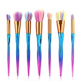 7Pcs Professional Colorful Makeup Brush Sets Cosmetic Brush Foundation Eyeshadow Brush Beauty Makeup Tools Kit 7 pcs