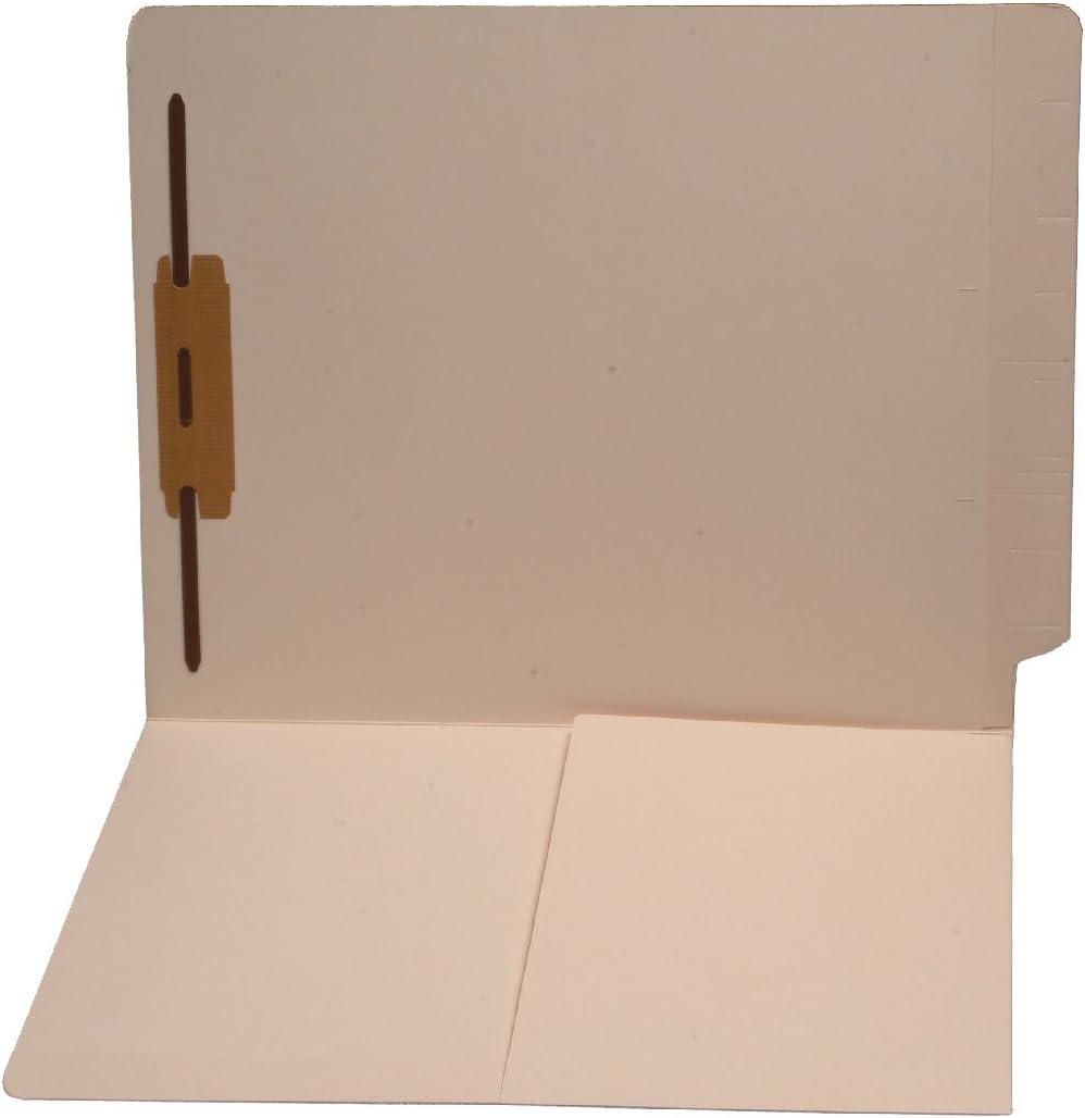 14 ptマニラフォルダ、フルカットエンドタブ、レターサイズ、1 / 2ポケット内側フロント、ファスナーPOS # 1 (カートンの250 )