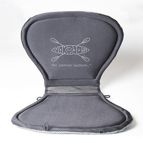 Yakpads High-Backed Cushioned Seat Pad by, Gel Seat Pad For Kayaks, Portable Seat Cushion For Outdoor Watersports and Recreation - Cascade Creek by Yakpads