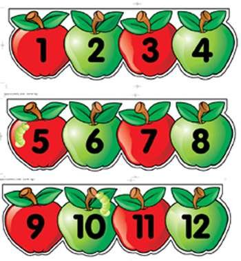 Mini Bb Set Apples Number Line By Creative Teaching Press