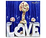 Sequin Curtains 2 Panels Royal Blue 2FTx8FT Sequin Photo Backdrop Sequin Backdrop Curtain Pack of 2~1011E