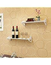 Emoshayoga Carved 1 Set of 3 Wall Shelves Bookcase Display Space Saving Organiser Nursery Kitchen for Children's Room Living Room Bedroom