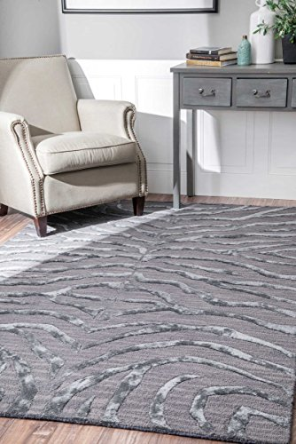 NuLOOM Contemporary Zebra Print With Faux Silk Highlights Area Rugs