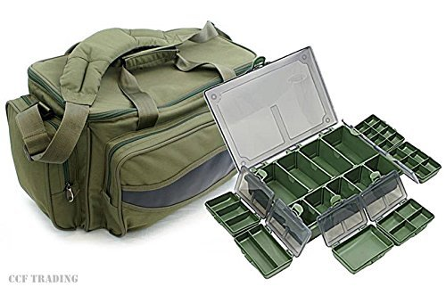 CARP FISHING HOLDALL TACKLE BAG + TACKLE BOX STORAGE SYSTEM LUGGAGE COMBO by NGT