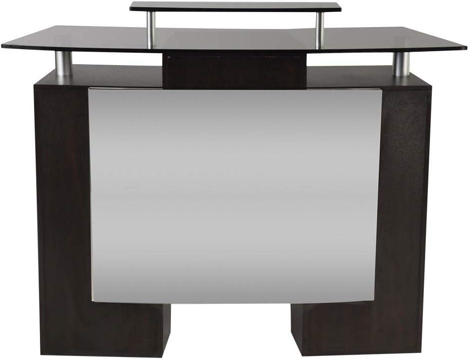 J & A Glass Top Reception Desk for Salons & Spas, JA-DP-RECP: Kitchen & Dining