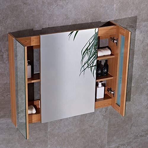 RKRZLB Illuminated Mirror Wall,Bathroom Mirror Cabinet,Illuminated Bathroom Mirror Cabinet Shaver Demister Sensor - Sensor Bathroom Demister Cabinet Shaver Illuminated Led Mirrors