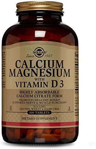 Solgar - Calcium Magnesium with Vitamin D3, 300 Tablets