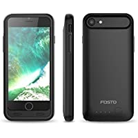 iphone 8/7 Battery Case, FOSTO Ultra Slim Portable Charger iphone 8/7 Charging Case,3100mAh External Rechargeable Power Case for iphone 8/7 [ Certified Chip, iOS 10+ 4.7 inch] (black)